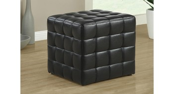 Livingroom sofa and futon decoration and furniture - Pouf simili cuir noir ...