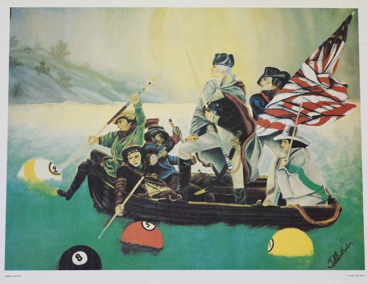 Poster billard bateau