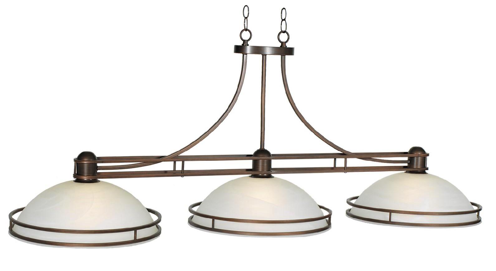 Cosmopolitan 56 3lt billiard light bronze lampes de billard billard et accessoires - Lampe pour table de billard ...