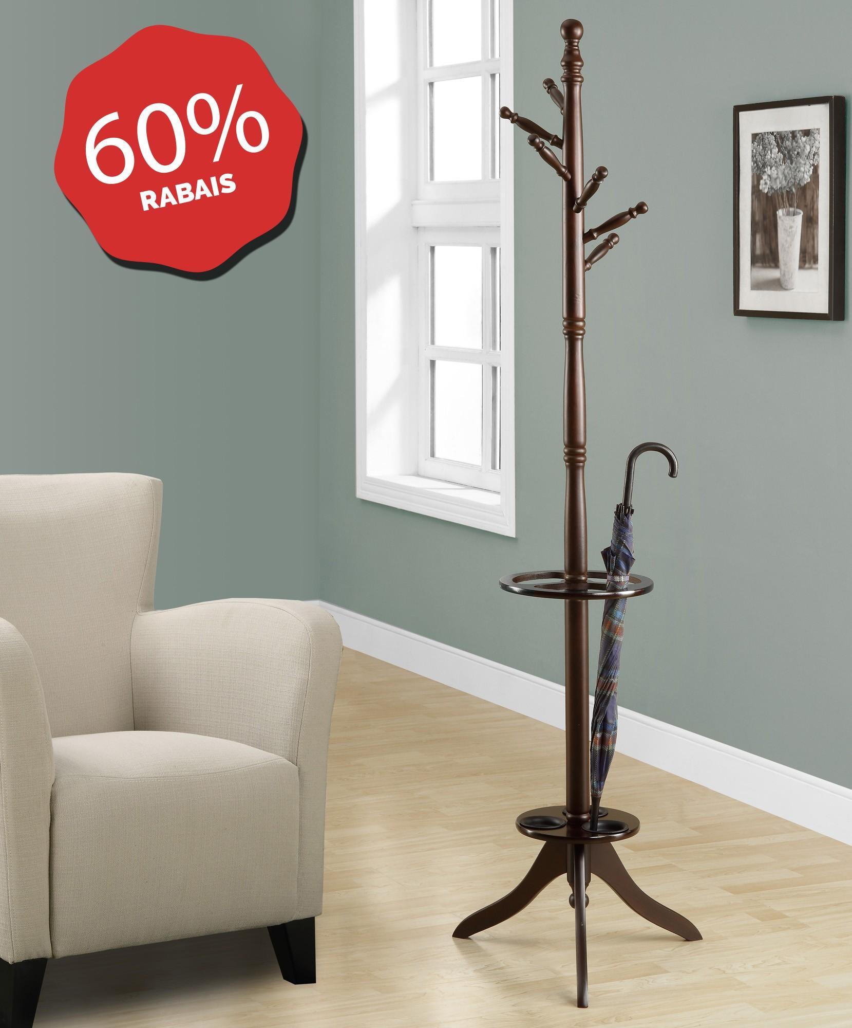 porte manteau solide bois cappuccino avec porte parapluie pool tables. Black Bedroom Furniture Sets. Home Design Ideas