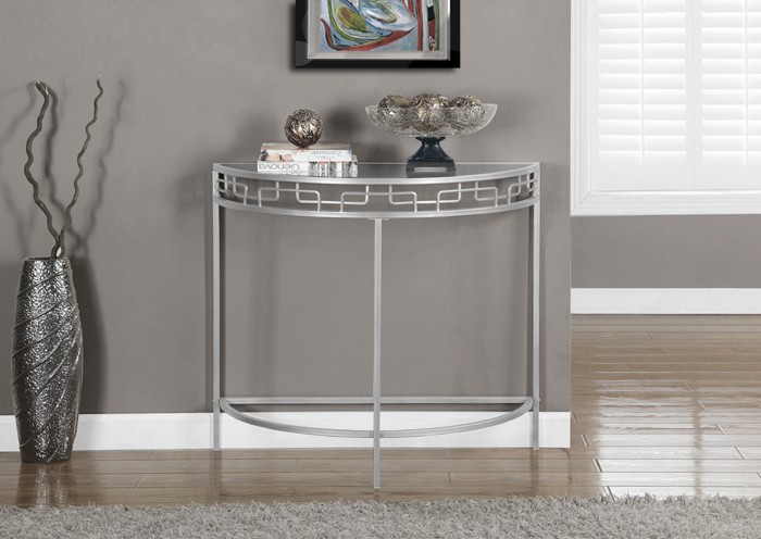 table console d entree d appoint 36 l metal argent. Black Bedroom Furniture Sets. Home Design Ideas