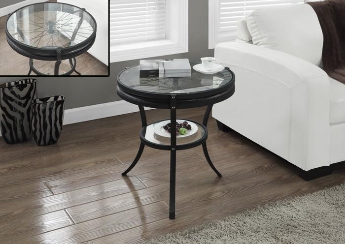 table d appoint 20 dia metal martele noir et verre trempe salon futons et sofa d coration. Black Bedroom Furniture Sets. Home Design Ideas