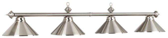 78 4 lt billiard light stainless lampes de billard billard et accessoires quebecbillard - Lampe pour table de billard ...