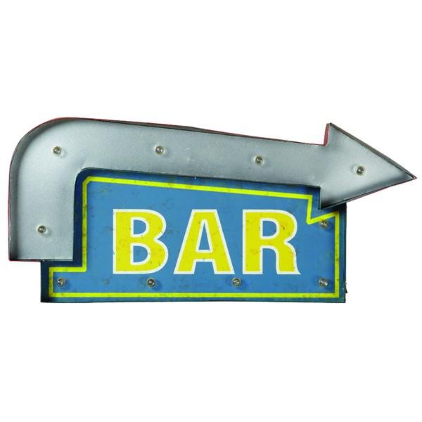 METAL SIGN-BAR ARROW