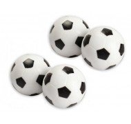 4 Balles blanches de Babyfoot 31mm