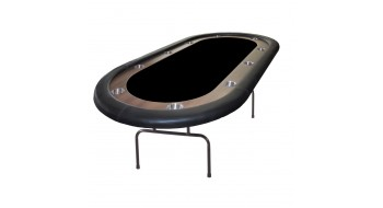 Table de poker Prestige 84'' OVAL NOIR