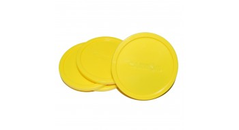 Paquet de 4 rondelles de table de hockey Jaune