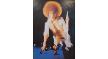 Billiard Poster woman