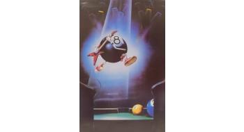 Billiard Poster guitar ball