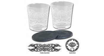 Harley-Davidson Tribal Bar and Shield Tumbler Set