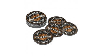 Harley-Davidson Oil Can Coaster Set