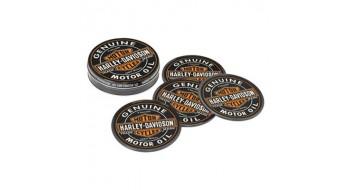 Harley-Davidson Oil Can Coaster Set