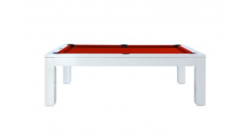 Table Billard Luxor 7p sans dessus blanc piano