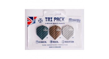 Tri-pack Plume de dard Harrows Carbon
