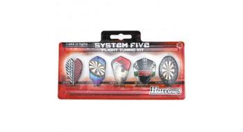 5 Set Pack Plume de dard Harrows System