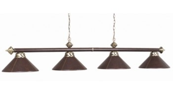 "4 LT-78"" Lampe quadriple en cuir Brun"