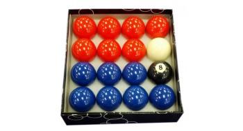 Boules de billard Bleu/Rouge