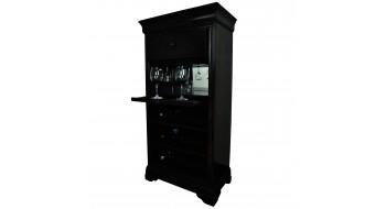 Cabinet de bar avec porte-vin - Noir