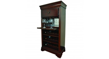 Cabinet de bar avec porte-vin - Chestnut