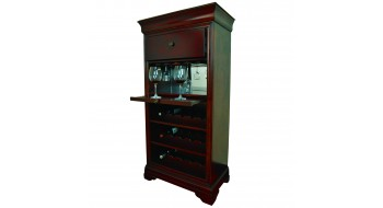 Cabinet de bar avec porte-vin - English Tudor