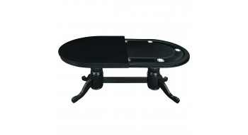 Table Pocker et diner 84'' en bois noir