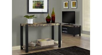 """TABLE CONSOLE 48""""L NOIR / STYLE VIEUX BOIS VIEILLI"""