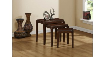 TABLE NESTING - 3PCS SET / BROWN placage chêne brun