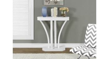 TABLE CONSOLE D'APPOINT 32″L BLANC