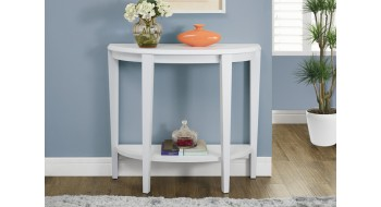 TABLE CONSOLE D'ENTREE D'APPOINT 36″L BLANC