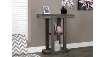 TABLE CONSOLE D'APPOINT 32″L STYLE VIEUX BOIS TAUPE FONCE