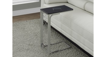 TABLE D'APPOINT EN METAL CHAMPAGNE / DESSUS CAPPUCCINO