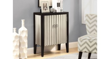 COMMODE BOMBAY CONTEMPORAINE ARGENT / NOIR