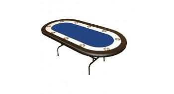 Table de Poker Monaco avec pattes pliantes bleue
