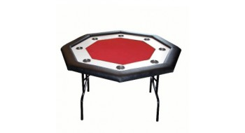Table pliante Monaco octagonale rouge 8j