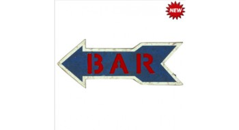 METAL SIGN-BAR ARROW (BLUE)