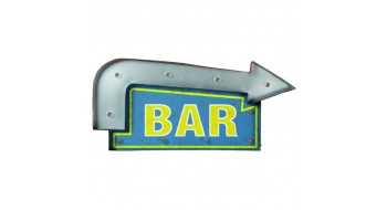 METAL SIGN-BAR ARROW