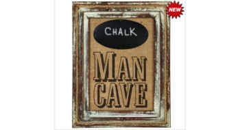 MAN CAVE W/ CHALKBOARD