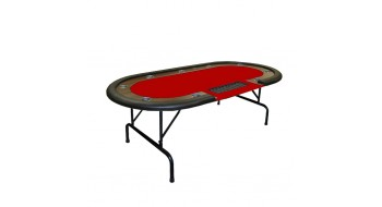 Table Poker Supreme Dealer 84'' Rouge