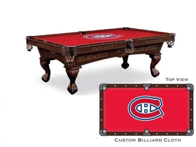 Tapis De Table De Billard 9p Montreal Canadiens Canadiens De Montreal Nhl Produits