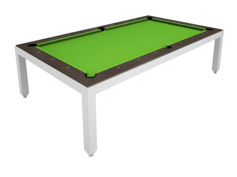 Table Diner Billard Fusion Table Laquee Blanche 7p Tables De Billard 7 39 Tables De Billard