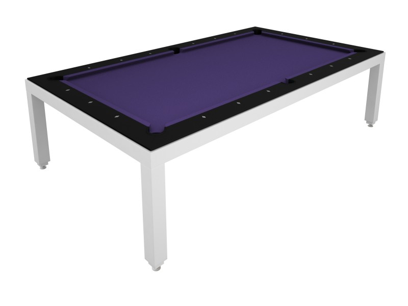 table diner billard fusion table laquee blanche 7p pool tables tables de. Black Bedroom Furniture Sets. Home Design Ideas