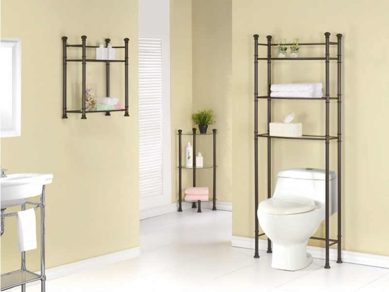 etagere en coin 33 h en metal bronz et verre trempe bureaux et tageres d coration et. Black Bedroom Furniture Sets. Home Design Ideas