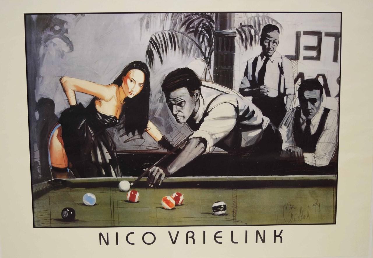 Décor Salle De Jeux billiard poster vrielink - décoration intérieur - décoration