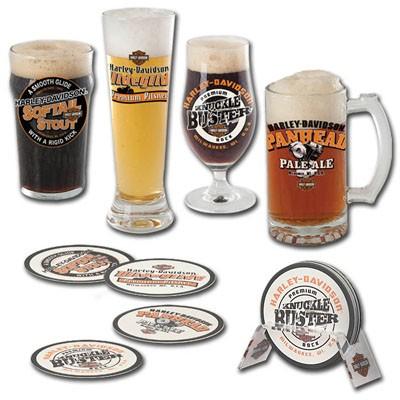 Harley-Davidson Set de verre de bière artisanale