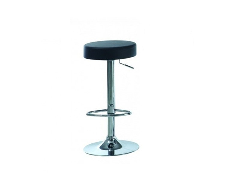 TABOURET DE BAR  / NOIR / METAL CHROME HYDRAULIQUE