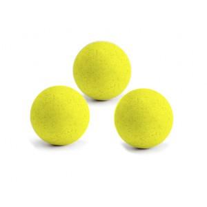 3 Balles neon jaune en liège