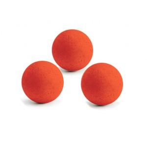 3 Balles neon rouge en liège
