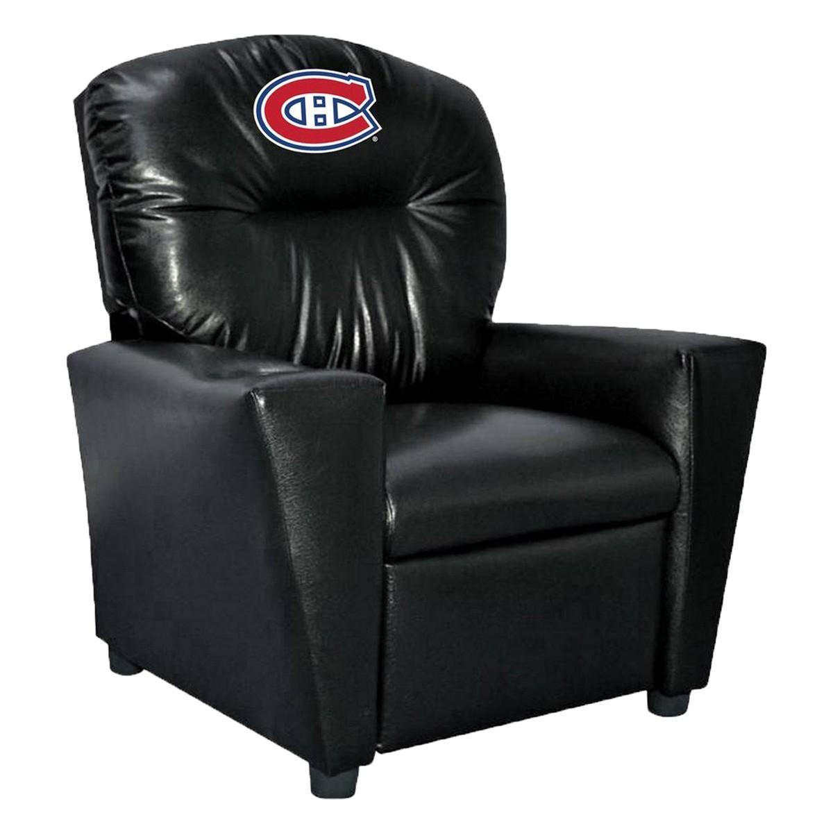 Montréal Canadiens Fauteuil inclinable en similicuir pour enfant