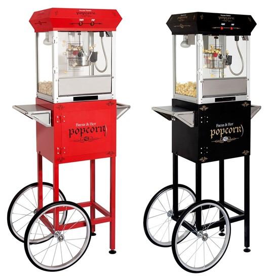 Machine de Popcorn 4oz avec chariot Noire ou Rouge