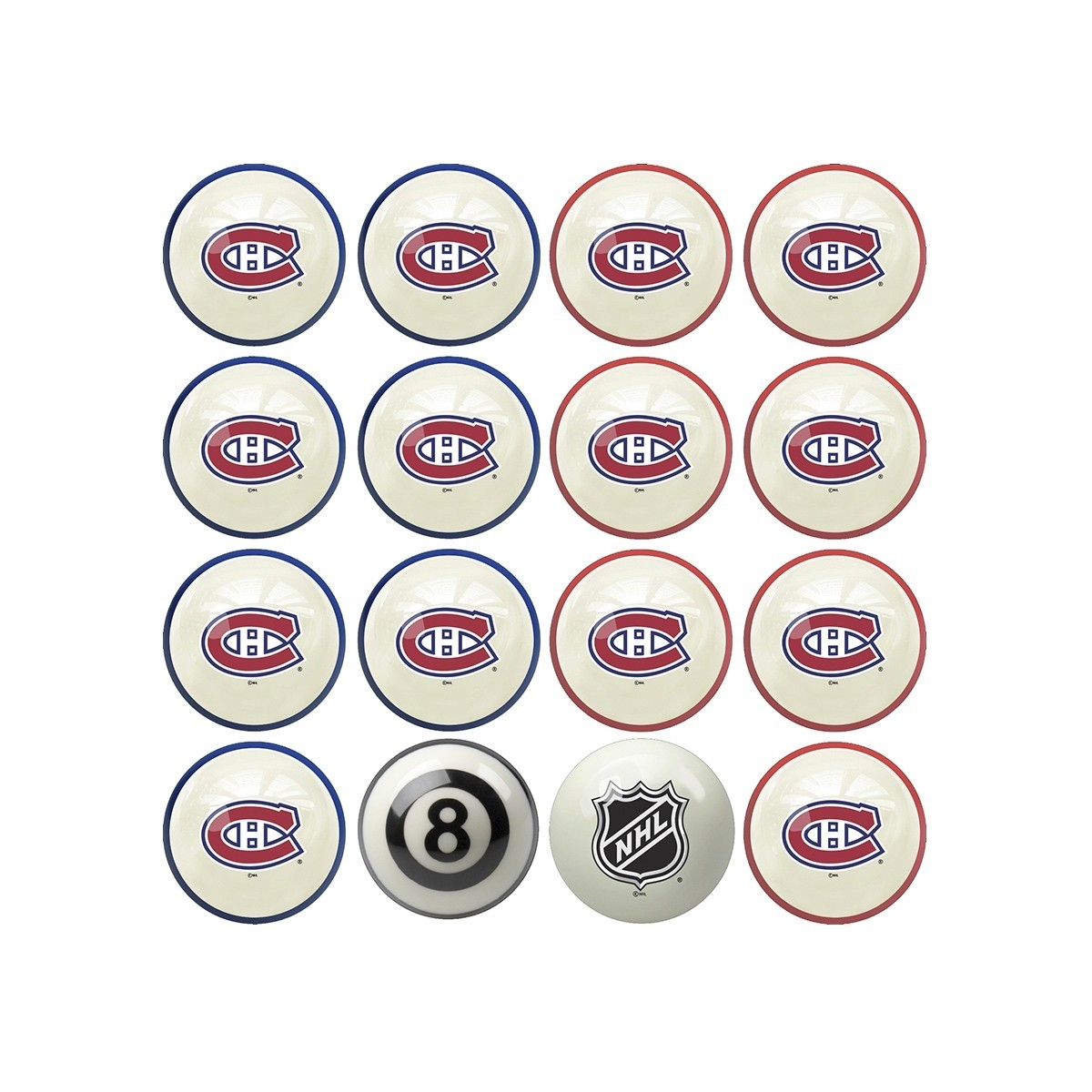 Set de boules billard Montreal Canadiens